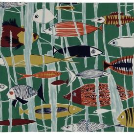 Paule LELEU (1906-1987) pour la maison LELEU  Marina, années 1950-1960 Toile de coton imprimée H. 49 ; L. 60 cm Don de Françoise Siriex en 2001 Photo : Alain Leprince