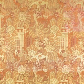 Raoul DUFY (Le Havre 1877- Forcalquier 1953) pour la maison Bianchini-Férier à Lyon Bagatelle ou Longchamp, 1919 Damas 2 lats. Soie et viscose H. 83,5 ; L. 78,5 cm Don de la maison Bianchini-Férier en 1929 Photo : David Lucas  ADAGP, Paris, 2015