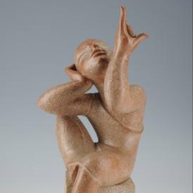 SÉBASTIEN (Gabriel Sébastien Simonet, dit) (1909 - 1990) Le Médiateur, vers 1950 Terre cuite H. 40 ; L. 20 ; P. 20 cm Don de Claire Cominetti en 2010 Photo: Alain Leprince ADAGP, Paris, 2015