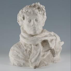 Auguste Rodin  (Paris, 1840  - 1917, Meudon) Buste de Lady Victoria Sackville – West, 1913-1914 Plâtre H. 46,8 ; L. 47,5 ; P.  37cm Achat du musée en 2012 Photo : Alain Leprince