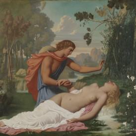 Léopold Burthe, Alphée et Aréthuse, 1846 Huile sur toile. Achat auprès d'une galerie américaine en 2013 Photo : Alain Leprince