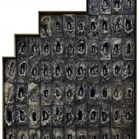 Gisèle Buthod-Garçon , Pourquoi elles ?, 2007 Grès, engobes, porcelaine.  Don de l'artiste en 2013.  Photo : Alain Leprince