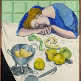 André Fougeron , Les Coings ou La Cuisinière endormie, 1947 Huile sur toile Don des héritiers de l'artiste en 2014 Photo: Alain Leprince ADAGP, Paris, 2015
