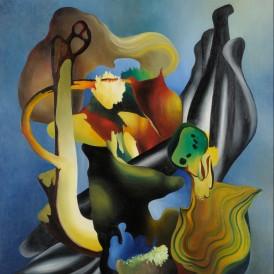 Pierre Wemaëre, Composition aux végétaux, 1937 Huile sur toile Don du Comité Pierre Wemaëre en 2014. Photo : Alain Leprince