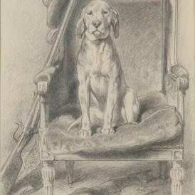 Rosa BONHEUR (Bordeaux,1822 - Thomery , 1899) L'Histoire de mon chien, 1880 Mine de plomb sur papier H. 20,6 ; L. 13,2 cm Don de Gustave Nadaud en 1881 Photo : Alain Leprince