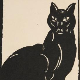 Simon BUSSY (Dole, 1870 - Londres, 1954) Black Cat, dans Original Woodcuts by Various Artists, 1918 Bois gravé sur papier  H. 26 ; L. 18,7 cm Achat avec le soutien du Fonds régional d'acquisition pour les musées en 2008 Photo : Alain Leprince