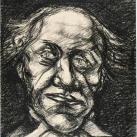 Armand NAKACHE (1894-1976) Un avocat Crayon graphite sur papier H. 31,5; L. 23,5 cm Don de M. et Mme Nakache en 2010