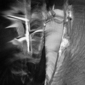 Bruno Dewaele, Dans l'air gelé, le fer flambe, 2015. Le Chemin des Dames