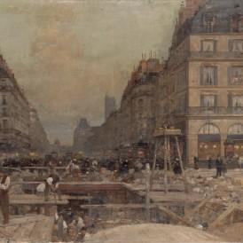 La Construction du métropolitain, 1900