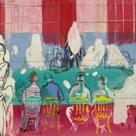 Raoul DUFY (1877-1953) Le Tapis vert ou La Partie de baccara, 1925 Mine de plomb, gouache et encre sur papier H. 28 ; L. 44 cm Dépôt du Musée national d'art moderne / Centre Pompidou en 1990 Photo : Alain Leprince ADAGP, Paris, 2015