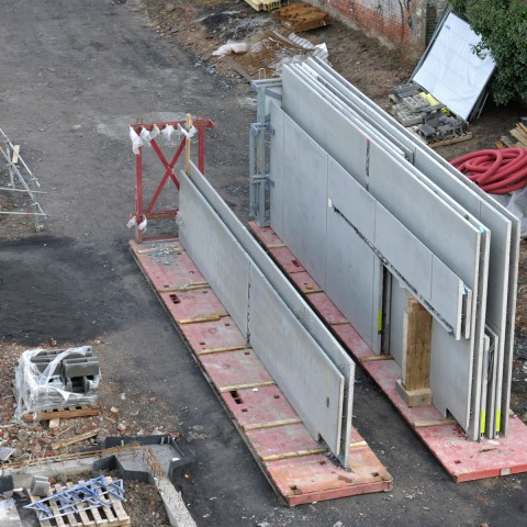 03.03.2017 Nouvelle aile Rue de l'Espérance. Installation des murs_DSC4335