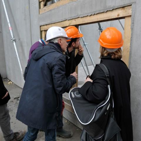 15.03.2017 Nouvelle aile Rue de l'Espérance. Réunion de chantier en présence de l'architecte_DSC4549
