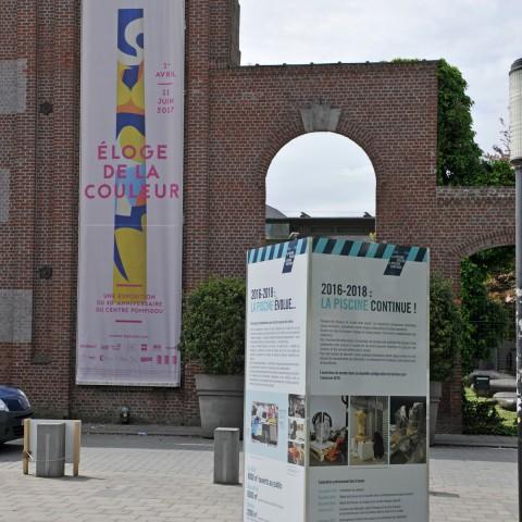 15.05.2017 Rue de l'Espérance. Signalétique à l'entrée du musée.