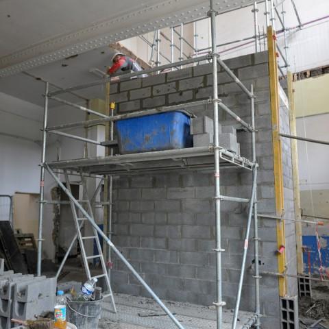 15.05.2017. Futur ascenseur qui pemettra d'accéder de la salle de l'enfance aux ateliers jeunes publics-Sévigné