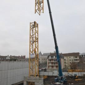 19.12.2016 Nouvelle aile Rue de l'Espérance Instalation de la grue