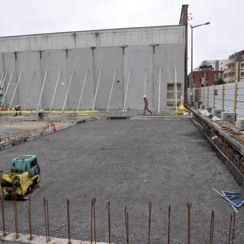 22.02.2017 Nouvelle aile Rue de l'Espérance. Installation des premiers murs_DSC4299