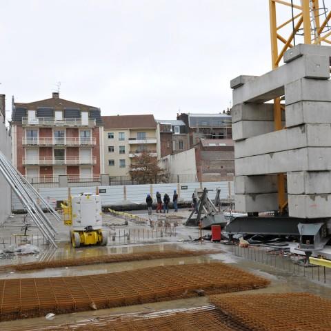 22.02.2017 Nouvelle aile Rue de l'Espérance. Installation des premiers murs_DSC4318