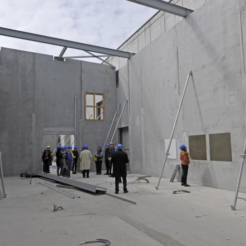 24.04.2017 Nouvelle aile Rue de l'Espérance. Vue sur la salle d'expositions temporaires_DSC5185
