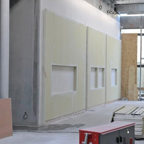 27.10.2017 Nouvelle aile Rue de l'Espérance. Vue de la future galerie de sculpture moderne