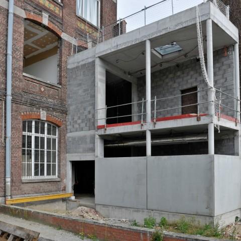 27.09.17 Zone de travaux Sévigné. Vue de l'accès du musée au nouveaux ateliers jeunes publics.