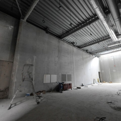 27.09.17 Nouvelle aile Rue de l'Espérance. Vue de la nouvelle salle d'exposition temporaire.
