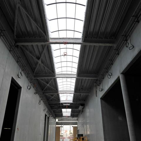 27.09.17 Nouvelle aile Rue de l'Espérance. Vue sur la galerie de sculpture moderne.