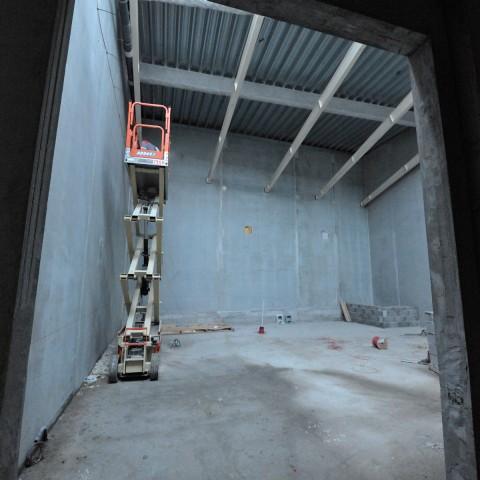 27.09.17 Nouvelle aile Rue de l'Espérance. Vue de l'espace qui accueillera la reconstitution de l'atelier du sculpteur Henri Bouchard.