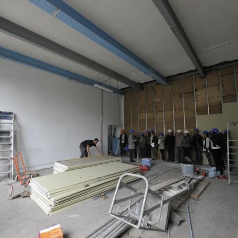 06.06.2017  Zone travaux Sévigné. Nouvel espace d'ateliers de pratiques artistiques.