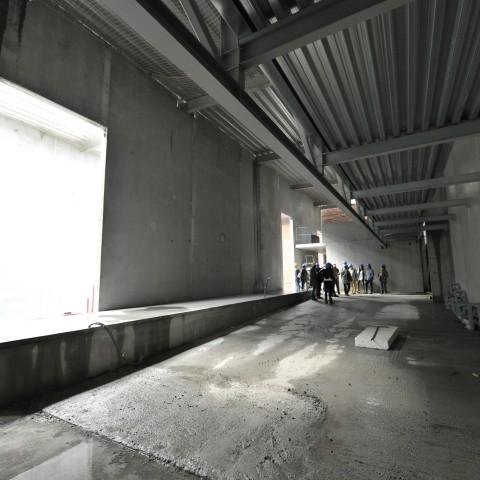 06.06.2017 Nouvelle aile Rue de l'Espérance. Visite de la future galerie de sculpture.