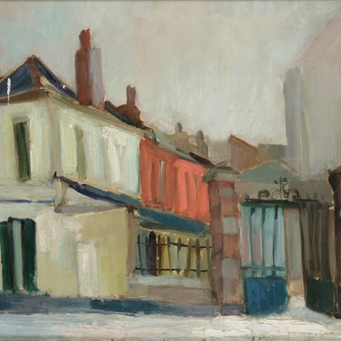 Arthur VAN HECKE 1924-2003 Rue de Lannoy, Roubaix (1950-51) Huile sur toile H. 54 ; L. 65 cm Don Patrice Dillies en 2016