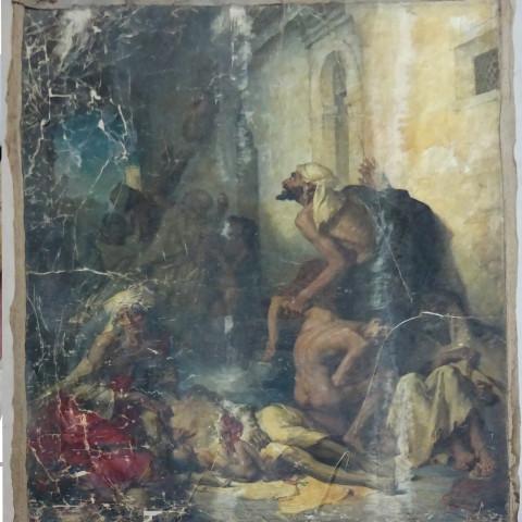 Gustave Guillaumet,  La Famine (1869)