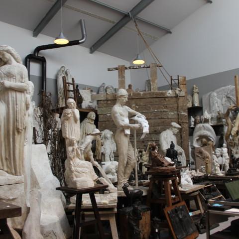 20.07.18 Reconstitution de l'atelier de sculpteur Henri Bouchard dans le nouvel espace dédié à la sculpture moderne et aux techniques de la sculpture